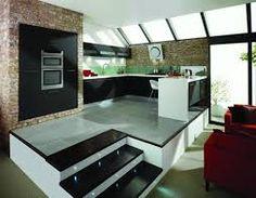 Image result for split level kitchen