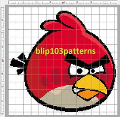 Red Angry Bird Counted Cross Stitch Pattern by Blip103patterns, $3.00