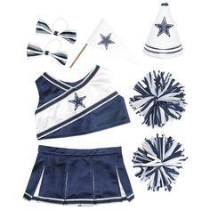 Dallas Cowboys Cheerleader Uniform 6 pc.  DCC!