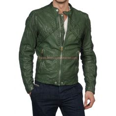 Austin and Ally Austin Moon Green Leather Jacket | Ross Lynch Jacket