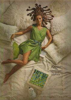 1960s Kayser is Marvelous in Bed - looks like Medusa and her snakes!