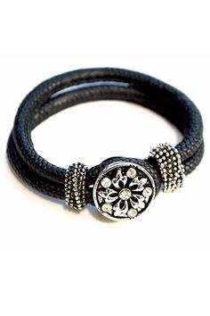 Armband in schwarz für 1 Snap oder Bracelets, Jewelry, Fashion, Bracelet, Oder, Schmuck, Moda, Jewlery, Bijoux