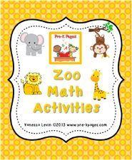 Zoo Math Activities for #preschool and #kindergarten