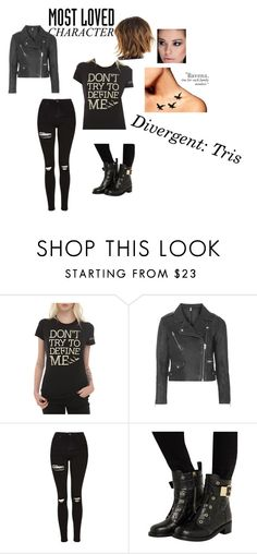"""""""Divergence"""" by jaclyn-welfeld ❤ liked on Polyvore featuring Topshop, Giuseppe Zanotti and MostLovedCharacter"""