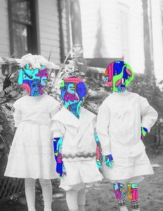 Wild Digital Collages by Tyler Spangler  #unmaskyourself #kreativerules