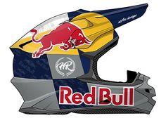 Helmet design for Hélder Rodrigues to the next Rally Dakar 2017 #redbull #yamaha #dakar
