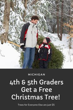 4th & 5th Graders Get a FREE Christmas Tree! Trees for Everyone Else are Just $5 - grkids.com Manistee National Forest, Hiawatha National Forest, Christmas Tree Cutting, Buy Christmas Tree, Tree Watch, Forest Road, Everyone Else, Michigan