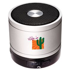 PL-4404 Bluetooth® Cylinder Mini Speaker. Aluminum case cylinder speaker with steel mesh cover and no-slip bottom. . Also play MP3 files though a USB flash drive or TF card. Includes rechargeable lithium-ion battery that charges through USB port (cable provided).  #promotionalproducts #corporategifts #brandidentity #employeerecognition #promoprodsstl #logo #yourlogohere  #tradeshows  #giveaways #marketing #advertising #technology #speaker #bluetooth