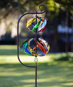 Double Helix Wind Spinner Kinetic Garden Stake #zulily #zulilyfinds