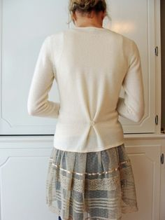 Cute idea for the back of a sweater that is too big