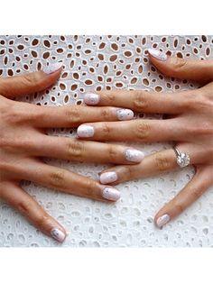 23 So-Pretty Bridal Manicure Ideas: wedding hair, skin, and makeup: allure.com