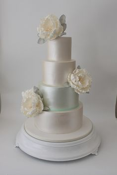 mint and pearl cake