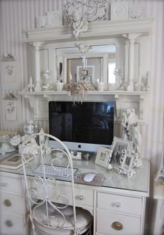 vintage shabby chic inspired office. Petite Michelle Louise: Where Bloggers Create 2012 · Office IdeasShabby Chic Vintage Shabby Inspired F