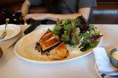 rôtisserie chicken salad with grains, walnuts, and yogurt