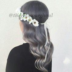 Grey & Silver hair by Master Stylist, Clarissa, at Carlton Hair Mainplace • 714-542-8868