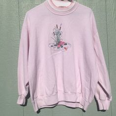 53e0071b22a14 Sweet baby pink 1990s sweatshirt from Top by - Depop Morning Sun