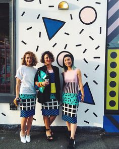 """""""...and here we have @_lisagorman @camillewalala and @katherine_sabbath - the triplets enjoying the feasts of our camille walala for gorman collaboration…"""""""