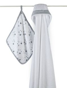 Aden + Anais Hooded Towel and Washcloth Set