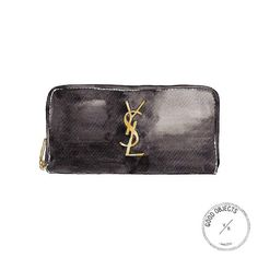 Good objects - Saint Laurent monogramme leather wallet #goodobjects Watercolor illustration