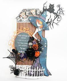 Tis Near Halloween (via Bloglovin.com ) = Wendy Schultz ~ Prima - Julie Nutting Doll Stamps Projects.