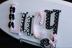 Four Letters-Personalized Name Plaque Wooden Wall Letters, Letter A Crafts, Letter Wall, Monogram Letters, Princess Room Decor, Home Crafts, Diy Crafts, Name Plaques, Wooden Diy