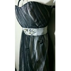 PHOEBE  COUTURE SIZE 2...............BEAUTIFUL! Bubble dress with black tulle 100% poloyester  90% 10% metallic lining 100% acetate. Phoebe Couture  Dresses Midi
