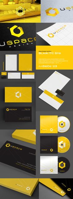 Yellow and Black Graphics and Branding Corporate Identity Design, Brand Identity Design, Business Branding, Visual Identity, Logo Branding, Branding Design, Logo Design, Letterhead Design, Id Design