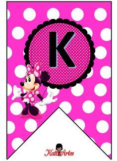 Banderines con Alfabeto de Minnie Rosa. - Oh my Alfabetos!