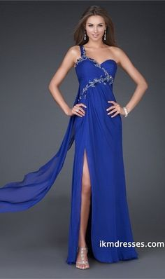 heath/column One-shoulder Floor-length Chiffon Prom Dress with Applique Decoration http://www.ikmdresses.com/Sheath-column-One-shoulder-Floor-length-Chiffon-Prom-Dress-with-Applique-Decoration-p80866
