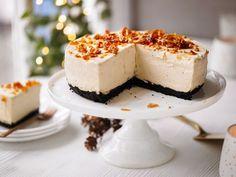 Baileys cheesecake med chokoladebund og mandelkrokant