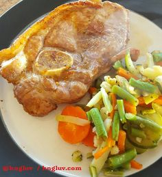 Port chop with mixed veggies #lchf