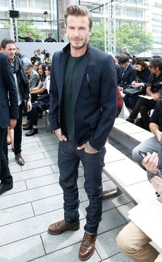 David Beckham embodies the effortless, laid-back cool that all men are trying to convey. Take note how he combines casual pieces such as the soft crew-neck and the beat-up boots with more refined things such as the classic navy blazer and the dark jeans. You should do the same by aiming to find ways to incorporate your casual pieces in your formal wardrobe and vice versa.