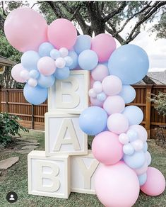Idee Baby Shower, Shower Bebe, Unique Baby Shower, Baby Shower Themes, Shower Ideas, Gender Reveal Balloons, Gender Reveal Party Decorations, Diy Baby Shower Decorations, Gender Reveal Banner