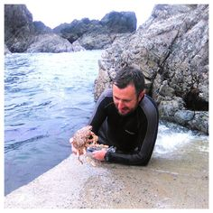 My sexy husband and a spider crab 😉 Snorkeling, Spider, Ireland, Husband, Sexy, Beautiful, Instagram, Diving, Spiders