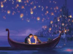 tangled lantern scene silhouette  | Displaying (17) Gallery Images For Tangled Lanterns Castle...