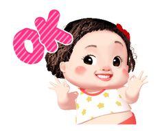 LINE Creators' Stickers - Lumyai cute girl animated Example with GIF Animation Black Girl Cartoon, Cute Couple Cartoon, Cute Love Cartoons, Cute Cartoon Girl, Cartoon Pics, Cute Love Images, Cute Love Gif, Animated Movie Posters, Girl Emoji