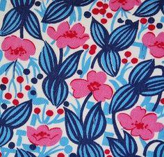 Vintage pink and blue floral
