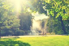 A Sunny day in green Park by VictorGrow on @creativemarket