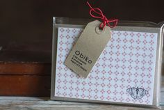 Notecard packaging by Obiko