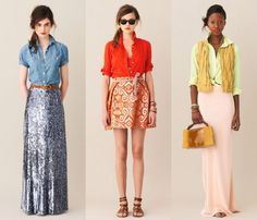 more summer to fall looks from J.Crew. loving that sequin maxi skirt