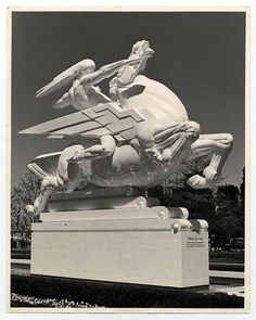 "Joseph E. Renier's Plaster Statue ""Speed"" at the 1939 New York World's Fair Court of Communications Building (New York, NY) by takomabibelot..."