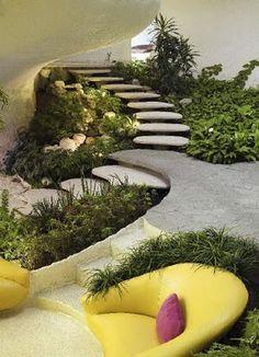 Basement fengshui garden