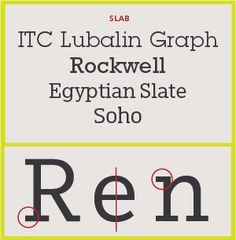 Serif Type Style Category: Slab Style (four examples). Popular in the 19th century for advertising display, these typefaces have very heavy serifs with minimal or no bracketing. Generally, changes in stroke weight are imperceptible. To many readers, slab serif type styles look like sans serif designs with the simple addition of heavy (stroke weight) serifs.