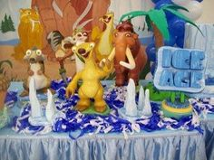 Table Decoration Ice Age Party