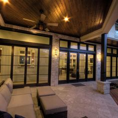 Exterior Enclosed Porch Metal Black Two Story Design, Pictures, Remodel, Decor and Ideas - page 17