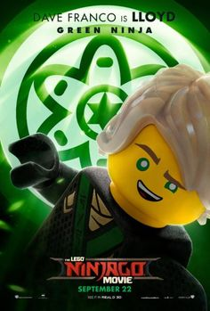 LEGO Ninjago Movie Character Posters and Featurettes Lego Ninjago Lloyd, Lego Ninjago Movie, Lego Movie, Lego Film, All Hollywood Movie, Lego Kai, Arte Ninja, Ninjago Memes, Ninjago Party