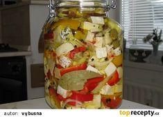 Nakládaná směs sýrů recept - TopRecepty.cz Yams, Food 52, Guacamole, Pickles, Dairy, Food And Drink, Appetizers, Cheese, Homemade