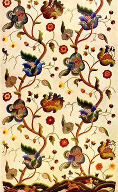 jacobean | The story of Jacobean embroidery is discussed set against images of ...