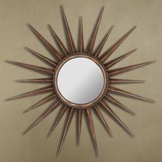 "Cooper Classics Remi Bronze 39"" Sunburst Wall Mirror"