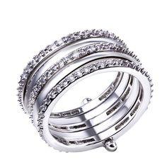 Amanda White 5 Rows Round Engagement Ring